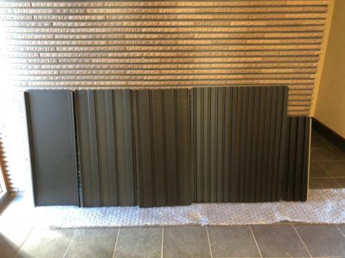 第14回会議の様子 外壁サンプル